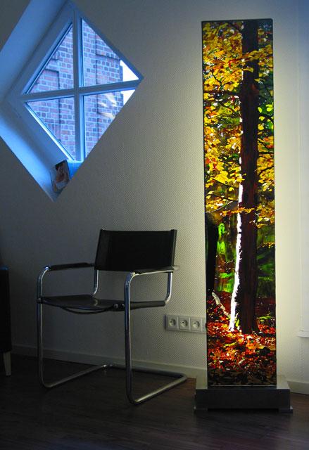 Ausstellung in Bad Oldesloe mit den Lichtsäulen von Dieter Geike